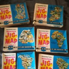 Puzzles: WADDINGTON'S SHAPED JIG-MAP, PUZZLE AÑOS 60. Lote 97386311