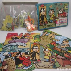 Puzzles: ANTIGUO PUZZLE POPEYE-FELIX EL GATO-BEETLE BAILEY-TIGER, 4 PUZZLES, PJR, KING FEATURES SYNDICATE. Lote 98165315