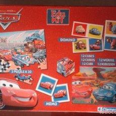 Puzzles: DISNEY PIXAR - EDU KIT - CARS - 4 EN 1 - PUZZLE - MEMO - DOMINO - CUBOS - CLEMENTONI. Lote 98679363