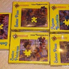 Puzzles: 5 PUZZLE PUZZLES. COLECCIÓN DE CUENTOS VALDEHELECHOS. PUZZLE EVERDIDAC. 20 PIEZAS. 390 GR. Lote 130073756