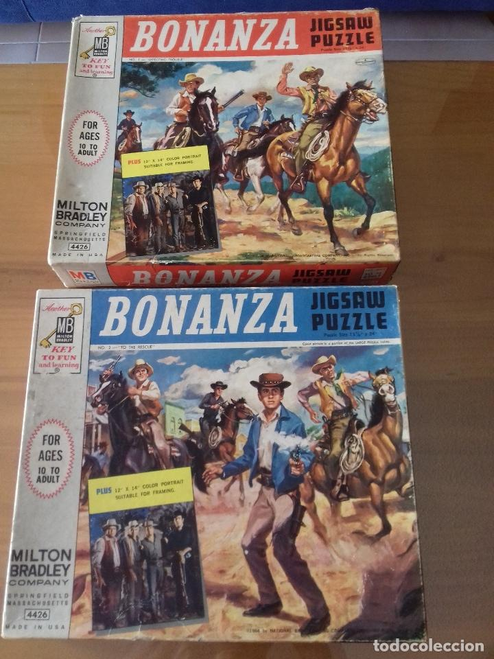 BONANZA X 2 PUZZLES 1964 + POSTER = VER FOTOS + POSTAL DE REGALO (Juguetes - Juegos - Puzles)