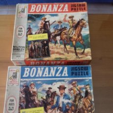 Puzzles: BONANZA X 2 PUZZLES 1964 + POSTER = VER FOTOS + POSTAL DE REGALO. Lote 100746915