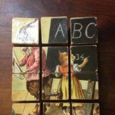 Puzzles: ANTIGUO PUZZLE DE CUBOS. MADERA. ESPAÑA. CIRCA 1950.. Lote 101272999