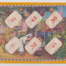 Puzzles: PUZZLE PARA APRENDER A MULTIPLICAR (4 LÁMINAS Y 24 FICHAS CARTÓN). AÑOS 40. Lote 103310747