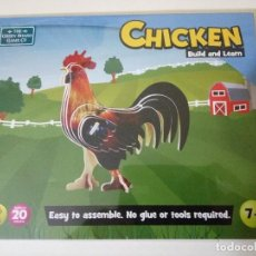 Puzzles: PUZLE CHICKEN BUILD & LEARN SIN DESPRECINTAR. Lote 103799523