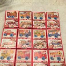 Puzzles: COLECCIÓN COMPLETA DE PUZZLES CON RUEDAS EDUCA 1983 SIN USAR,DISET,MB,,DJECO,FEBER,CEFA,. Lote 103997818
