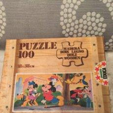 Puzzles: PUZZLE MADERA MICKEY DISNEY EDUCA 83 SIN USAR ANTIGUO RAVESBURGUER CLEMENTONI DISET DJECO HEYE. Lote 104104323