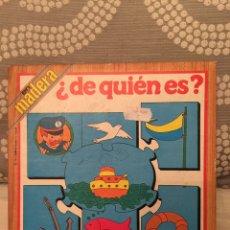 Puzzles: PUZZLE MADERA DE QUIÉN ES EDUCA 79 ANTIGUO SIN USAR RAVESBURGUER CLEMENTONI DISET DJECO HEYE HASBRO. Lote 104104979