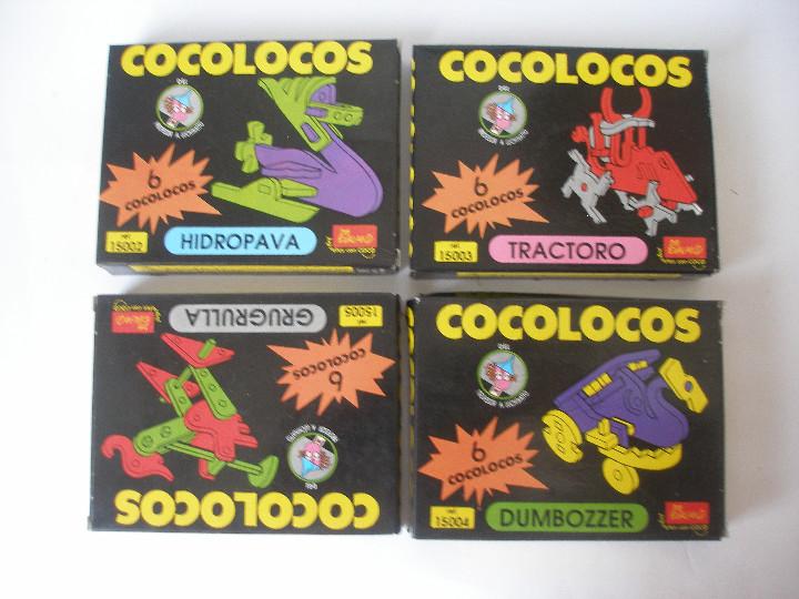 CUATRO JUEGOS COCOLOCOS DE EVALAND ALICANTE AÑOS 80 .- A ESTRENAR (Juguetes - Juegos - Puzles)