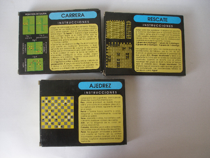 Puzzles: Cuatro Cocojuegos ajedrez damas rescate y carreras de Evaland Alicante años 80- a estrenar - Foto 2 - 86469666