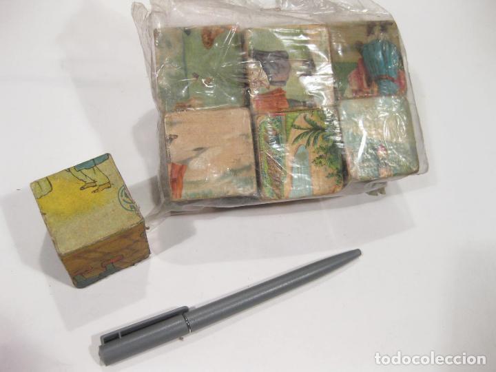 Puzzles: RESTOS DE UN ANTIGUO PUZZLE DE DE CUBOS CARTON DE PRINCIPIOS DEL SIGLO XX - Foto 2 - 104838743