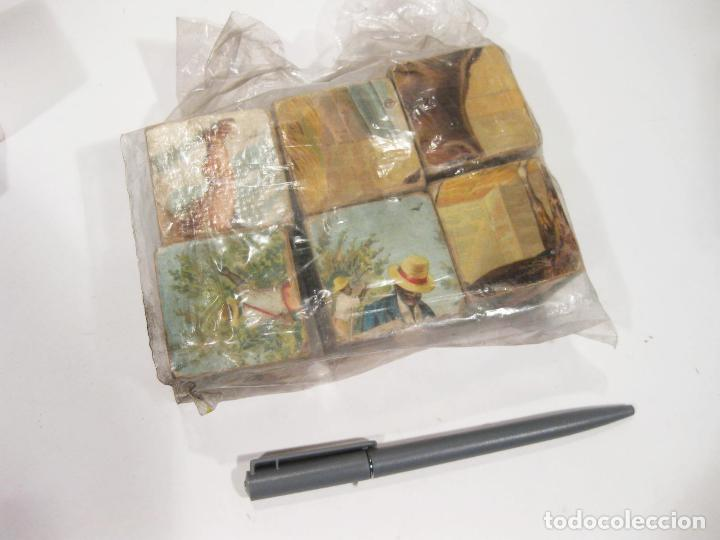 Puzzles: RESTOS DE UN ANTIGUO PUZZLE DE DE CUBOS CARTON DE PRINCIPIOS DEL SIGLO XX - Foto 3 - 104838743