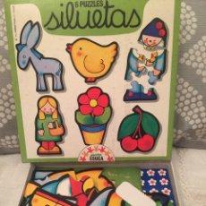 Puzzles: 6 PUZZLES SILUETAS EDUCA 79 ANTIGUO RAVESBURGUER CLEMENTONI,CEFA,DJECO,DISET,FEBER,HASBRO,MB,MATTEL. Lote 105216983