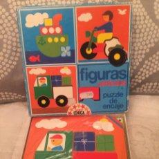 Puzzles: PUZZLE DE FIGURAS VEHÍCULOS EDUCA SIN USAR ANTIGUO RAVESBURGUER CLEMENTONI DISET CEFA DJECO HEYE. Lote 105217323