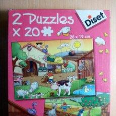 Puzzles: 2 PUZZLES. 20 PIEZAS. 26X19CM. DISET.. Lote 107501683