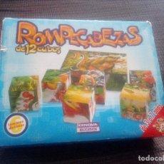Puzzles: ROMPECABEZAS DE 12 CUBOS,6 IMAGENES DIFERENTES.DINOVA,FABRICADO EN ESPAÑA.BLANCANIEVES,ETC.. Lote 108784891