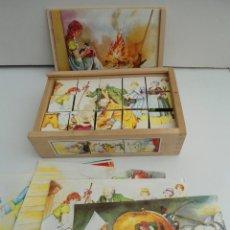 Puzzles: ROMPECABEZAS EN CUBOS DE MADERA - ANTIGUO PUZZLE - AÑOS 30-40 - LA CENICIENTA - MUY BUEN ESTADO. Lote 223233310