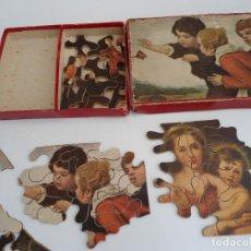 Puzzles: ANTIGUO PUZZLE DE MADERA - PRECIOSA LITOGRAFIA - SE COMPONE DE DOS IMAGENES - AÑOS 20-30. Lote 109453703