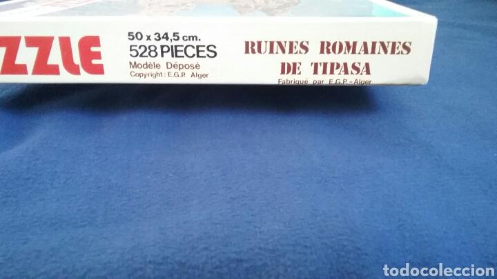Puzzles: PUZLE. RUINAS ROMANAS DE TIPASA.ARGELIA.528 PIEZAS.LA CAJA ESTÁ SIN ABRIR.PRECINTADA.AÑO 1983 - Foto 3 - 110376288