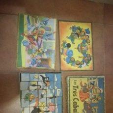 Puzzles: JUEGO PUZZLE ROMPECABEZAS CUBOS LOS TRES CABALLEROS. Lote 110925755
