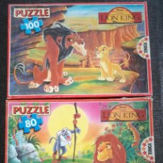 Puzzles: 2 PUZZLES DE EL REY LEON - THE LION KING (EDUCA, 1994). Lote 111848855