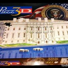 Puzzles: PUZZ3D CASA BLANCA THE WHITE HOUSE PUZZLE 3D MB 443 PIEZAS COMPLETO MUY BUEN ESTADO. Lote 112161019