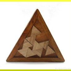 Puzzles: JUEGO EN MADERA ROMPECABEZAS - TRIANGULO - NUEVO Y PRECINTADO. Lote 179142075