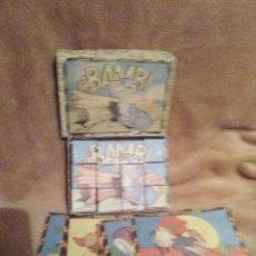 Puzzles: ANTIGUO PUZZLE-ROMPECABEZAS CUBOS CARTON MAPAS. Lote 112659959