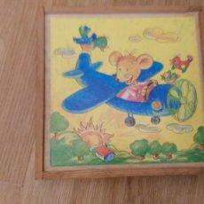Puzzles: ROMPECABEZAS - PUZZLE - AÑOS 60 - 16 CUBOS DE MADERA- 5 LAMINAS MUESTRA MAS LA DE LA TAPA DE LA CAJA. Lote 113420571