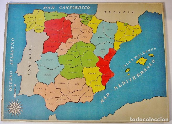 Mapa De España Antiguo.Antiguo Mapa De Espana Puzzle En Carton Piezas Vendido En