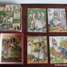 Puzzles: ROMPECABEZAS AÑOS 30-40. CUBOS DE MADERA CON PAPEL LITOGRAFIADO. PUZZLE. Lote 77749753