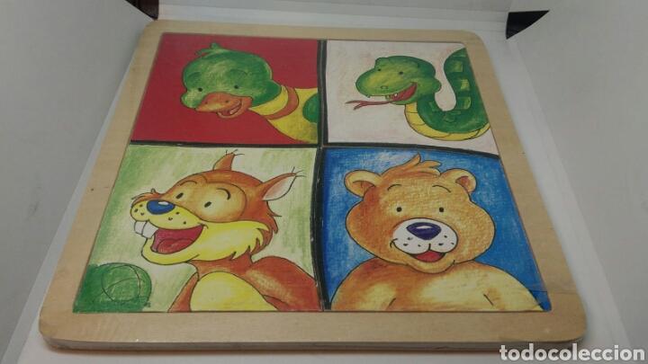PUZZLE DE MADERA ANIMALES INFANTIL 4 MODELOS (Juguetes - Juegos - Puzles)