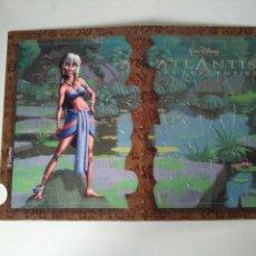 Puzzles: MINI PUZZLE DE 2 CARAS ATLANTIS - DISNEY - CEREALES NESTLÉ - SIN ESTRENAR. Lote 115303067