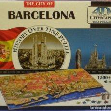 Puzzli: THE CITY OF BARCELONA - 4D CITYSCAPE PUZZLE 1200 PCS - AGES 14+ CAJA ABIERTA PERO PIEZAS PRECINTADAS. Lote 209644590