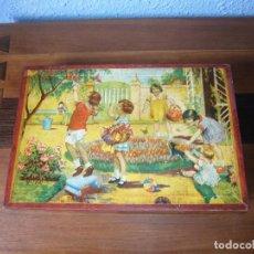 Puzzles: ANTIGUO ROMPECABEZAS DE DADOS DE CARTON AÑOS 50 COMOPLETO. Lote 116256235