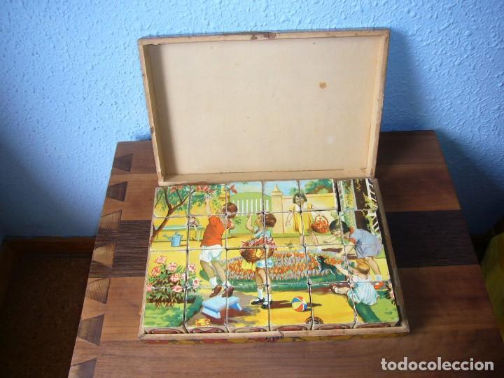 Puzzles: Antiguo rompecabezas de dados de carton años 50 comopleto - Foto 2 - 116256235