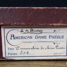 Puzzles: EL CONSERVATORIO DE MIMI PINSON - AMERICAN GAME PUZZLE - 308 PIEZAS DE MADERA (FALTAN 23)- 1910 APRX. Lote 118367783