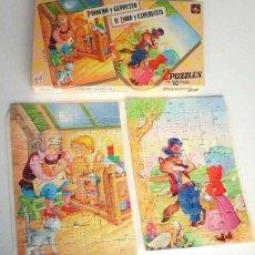 Puzzles: PUZZLE DE CAPERUCITA Y EL LOBO Y PUZZLE DE PINOCHO. 2 PUZZLES COMPLETOS. Lote 118534179