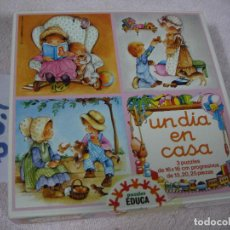 Puzzles: ANTIGUO PUZZLE PROGRESIVO EDUCA - UN DIA EN CASA . Lote 118800163