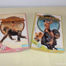 Puzzles: 2 PUZZLES DE TARZAN. DIDACTA. SIN USO. PRECINTADO. CAJA ALGO DESGASTADA. Lote 119688911
