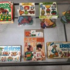 Puzzles: LOTE DE 7 PUZZLES DIDÁCTICOS COMPLETOS (1976 A 1982). Lote 120471908