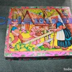 Puzzles: PUZZLE CUENTOS CLASICOS AÑOS 40 50 COMPLETO ROMPECABEZAS CUBOS CENICIENTA CAPERUCITA. Lote 120959091