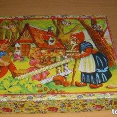 Puzzles: ANTIGUO PUZZLE CUBOS ROMPECABEZAS CUENTOS AÑOS 40 50 COMPLETO CAPERUCITA BLANCANIEVES CENICIENTA. Lote 122176243