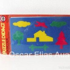 Puzzles: PUZZLE DE GOMAESPUMA CAYRO DIDACT, SPAIN. CUATRICOLOR. PARA MONTAR Y COLOREAR. INSTRUCTIVO.. Lote 122589999