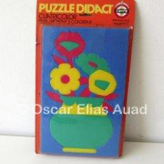 Puzzles: PUZZLE DE GOMAESPUMA CAYRO DIDACT, SPAIN. CUATRICOLOR. PARA MONTAR Y COLOREAR. INSTRUCTIVO.. Lote 122590575