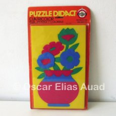 Puzzles: PUZZLE DE GOMAESPUMA CAYRO DIDACT, SPAIN. CUATRICOLOR. PARA MONTAR Y COLOREAR. INSTRUCTIVO.. Lote 122590723