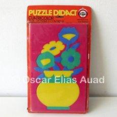 Puzzles: PUZZLE DE GOMAESPUMA CAYRO DIDACT, SPAIN. CUATRICOLOR. PARA MONTAR Y COLOREAR. INSTRUCTIVO.. Lote 122591291