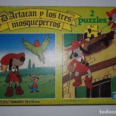 Puzzles: D'ARTACAN Y LOS TRES MOSQUEPERROS 2 PUZZLES 16X15 DIDACTA REF 7561 DARTACAN. Lote 125266683