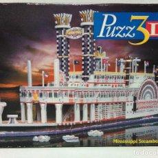 Puzzles: PUZZ3D - BARCO A VAPOR DEL MISSISSIPPI - 718 PIEZAS. Lote 127124631