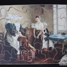 Puzzles: ANTIGUO PUZZLE DE MADERA DE 21,3X16,5 CM Y 35 PIEZAS.. Lote 127178067